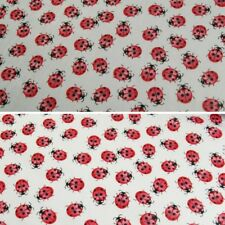 Polycotton Fabric Mini Packed Lots Of Ladybirds Lady Bugs