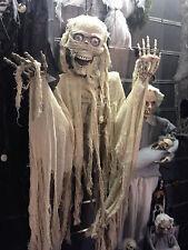 Halloween a Batteria Appeso Mummia VISUALIZZAZIONE PROP Decorazione Grandezza Naturale 1.5 M