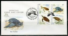 MARSHALL ISLANDS 2002 TURTLES SET ON FIRST DAY COVER