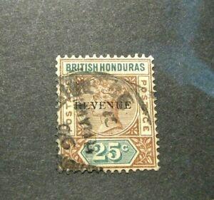 British Honduras Stamp Scott# 50 Queen Victoria-Overprint 1899 H91