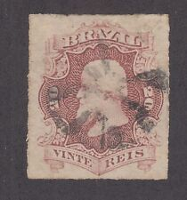 Brazil Sc 62 used 1877 20r rouletted Dom Pedro F-VF