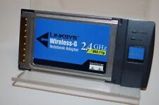 Used Linksys WPC54G 2.4GHz 802.11g Wireless-G Notebook Adapter Ver 3