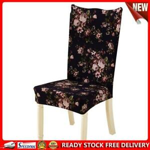 Removable Conjoined Stretchy Floral Home Stool Chair Seat Cover (5#)
