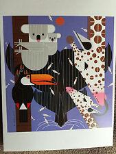 CHARLEY CHARLES HARPER  Zoo Babies New Art  print Giraffe Toucan Koala Whale
