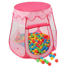 Kinderzelt Bällebad Babyzelt Spielhaus Spielzelt +100 Bälle +Tasche Pink