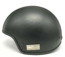 "VINTAGE MOTORCYCLE HELMET ""The Classical Way"" - Black Leather - HARLEY - Small"
