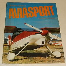 AVIASPORT La Revue du Pilote N° 268 : Voltige - Coupe Fédérale - Vol à Voile
