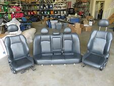 2004 MERCEDES W203 C230 SPORT FRONT AND REAR SEATS SEAT BLACK LEATHER OEM NICE
