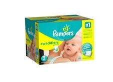Pampers Swaddlers Disposable Diapers Size 2, 204 Count (One Month Supply)