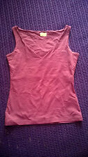 Oasis smart purple V neck top size 8 work formal casual VGC
