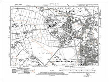 Old map of Warkworth Northumberland in 1926 43NE repro Birling
