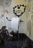 Papier Porte Rouleau Toilette Ancien Wc Noir Bain Salle Rechange Rouleaux Deco