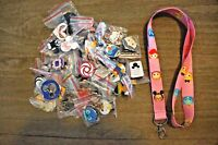 Disney World 25 Pin Trading Lot Lanyard Starter Set Pink Tsum Tsum Minnie Stitch