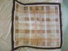 "Ladies Vintage 26"" Boselli brown Crepe Designer Scarf 100% polyester Italy"