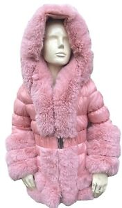 Girls Pink Fur Coat