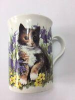 Crown Trent  Staffordshire Kitten & Butterfly Tea/Coffee Mug Fine Bone China