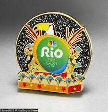 OLYMPIC PINS BADGE 2016 RIO DE JANEIRO BRAZIL NBC MEDIA SPONSOR CARNIVAL TOUCAN