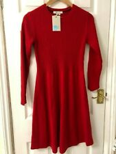 New Boden Gemma Cashmere Blend Dress - Poinsettia, Red, UK 12, RRP £90