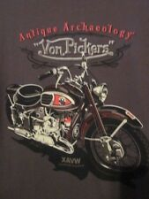 "NWT - ANTIQUE ARCHAEOLOGY ""VON PICKERS"" Motorcycle Adult S Short Sleeve Tee"