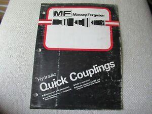 Massey Ferguson MF Hydraulic quick couplings brochure