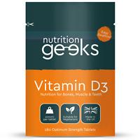 Vitamin D 1000IU Tablets | 180 Vitamin D3 Supplements High Strength Not Capsules
