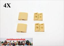 4X Lego® 15068 Bogensteine Dachsteine Slope Curved 2x2 Beige Tan NEU