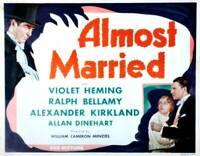 OLD MOVIE PHOTO Almost Married Poster Alexander Kirkland Violet Heming