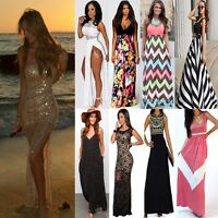 Women Summer Sexy Formal Evening Party Cocktail Prom Boho Beach Maxi Long Dress