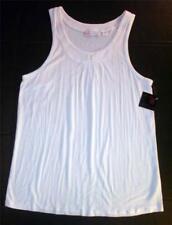 JW Style White Sleeveless Knit Top Medium Hadse NEW