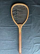 Antique Tennis Racket Spalding Unusual Wide Head
