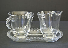 Candlewick Sugar Creamer Tray Imperial Glass Large Size Sugar Creamer 400 29/30
