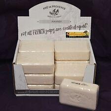 Pre de Provence AMANDE ALMOND Case 12 x 250 Gram French Soap Bath Shower Bars XL