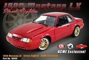 1990 FORD MUSTANG LX STREET FIGHTER RED 1:18 SCALE MODEL CAR BY GMP 18955
