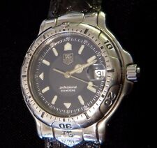 TAG Heuer 6000 Men's Stainless Steel Watch WH1115-K1 w/New Band, Good Condition