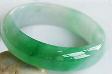 Bead Beads Bangle Bracelet size 56-58mm Green 100% Natural A Jade Jadeite