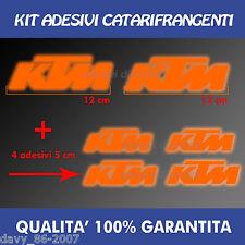 KIT 2 ADESIVI + 4 OMAGGIO KTM 990 1190 ADVENTURE 950 DUKE  decal RIFLETTENTI
