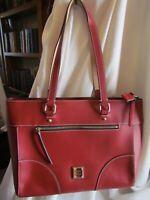 Dooney & Bourke BEAUTIFUL Beacon Leather Zip-Top Large Tote - Mila $298 RED