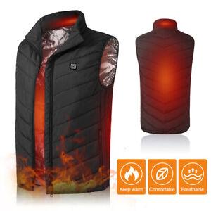 Electric USB Winter Heated Warm Vest Men Women Heating Coat Jacket Cloth Coat
