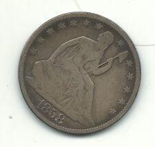 VINTAGE FINE CONDITION 1858 O  LIBERTY SEATED SILVER HALF DOLLAR-DEC550