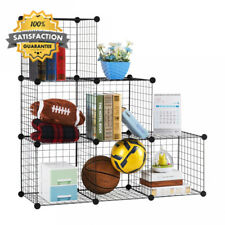 LANGRIA 6-Cube DIY Wire Grid Bookcase, Multi-Use Modular Storage Shelving...