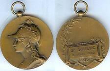 Gymnastique - SAINT BRIEUC 1922  concours de gymanstique d=40mm bronze