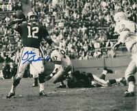 RAMS Zeke Bratkowski signed photo 8x10 AUTO vs Packers Willie Davis Autographed