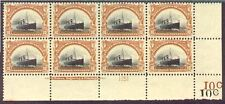 299  MINT OG (vlh in 1 stamp)  MARGIN PLATE BLK OF 8  VERY RARE SUCH