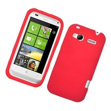 Red Rubber SILICONE Skin Soft Gel Case Phone Cover for T-Mobile HTC Radar 4G