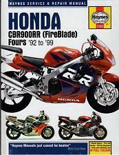 1992-1999 HAYNES HONDA CBR900RR (FIREBLADE) FOURS SERVICE REPAIR MANUAL  (2161)