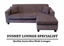 AUSTRALIAN MADE Mossvale 3 seater reversible chaise (Fudge) Sofa Couch