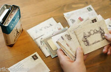 Retro Vintage Print ANCIEN Envelopes REFILL 12 fancy craft paper mini envelopes