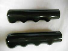 """HANDLEBAR GRIPS - (1 Pair) - 4-1/2"""" Long x 7/8"""" Diameter Fit - Black"""