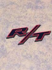 Black Red R/T Rt Emblem Badge Decal Sticker Dodge Ram Challenger Charger
