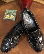 Nice -Vintage Florsheim Imperial Wingtip Tassel Slip On Loafers Mens Shoes 10.5D